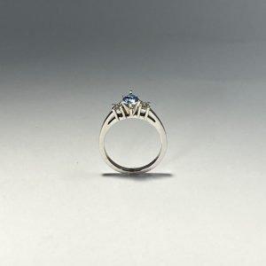 Aquamarine & Diamond Ring side
