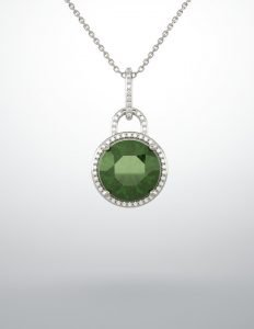 Gemstone Emerald Necklace