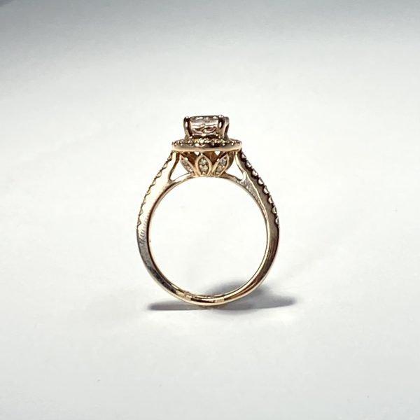 Morganite and Diamond Ring side
