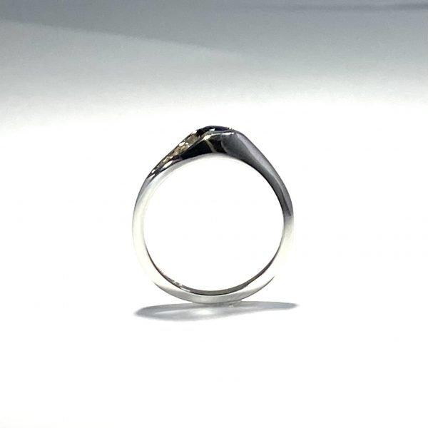 Sapphire & Diamond Ring side