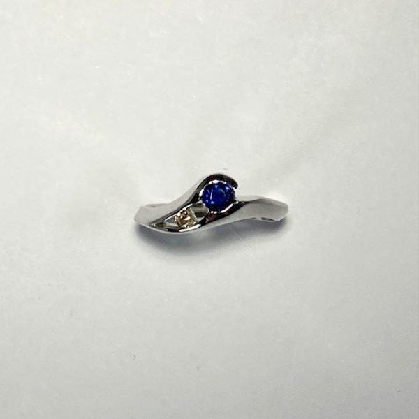 Sapphire & Diamond Ring top