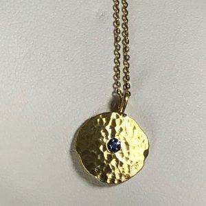 Gold Sapphire Pendant