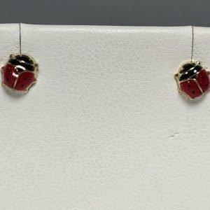 Gold Ladybug Earrings
