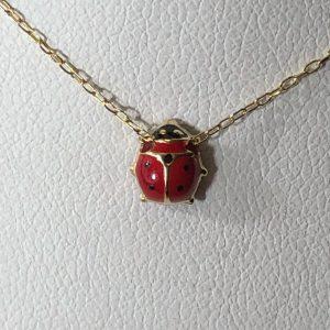 Gold Ladybug Necklace