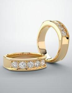 Mens Diamond Wedding Bands VT
