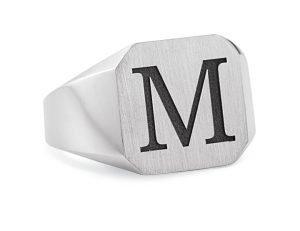 Mens Initial Ring VT