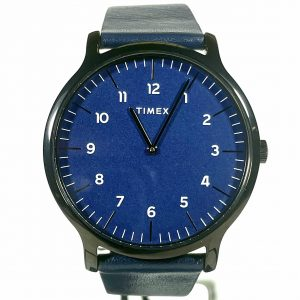 Timex Norway 40mm Blue Leather Strap Watch