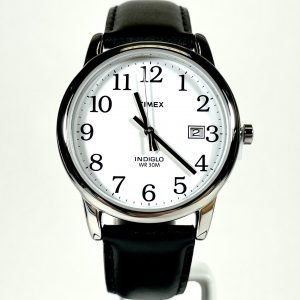 Timex Easy Reader 35mm Leather Strap Watch