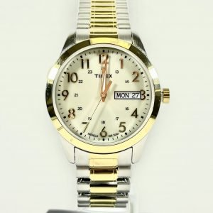 Timex Mens Two Tone Stainless Steel Bracelet Watch